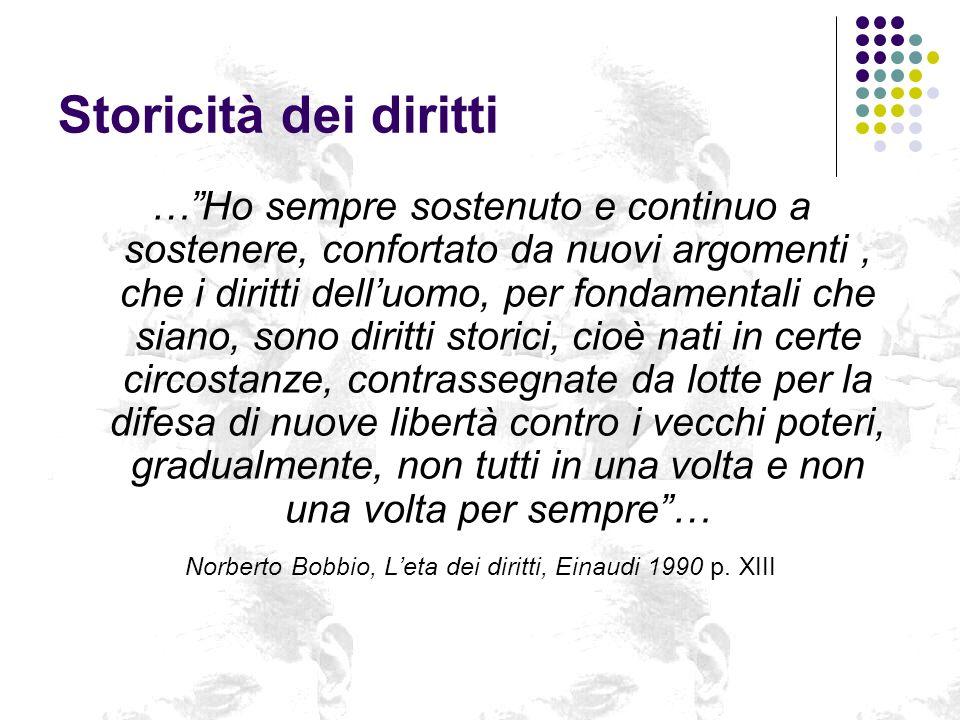 Norberto Bobbio, L'eta dei diritti, Einaudi 1990 p. XIII