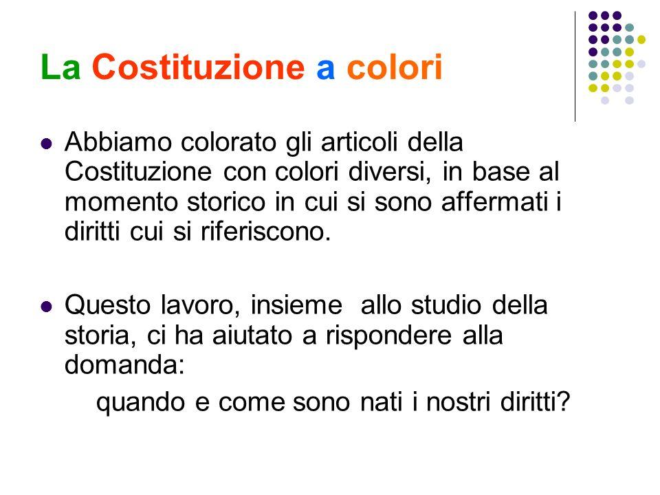 La Costituzione a colori