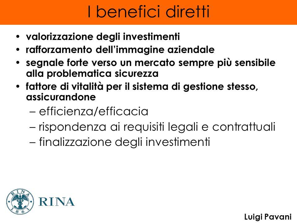 I benefici diretti efficienza/efficacia