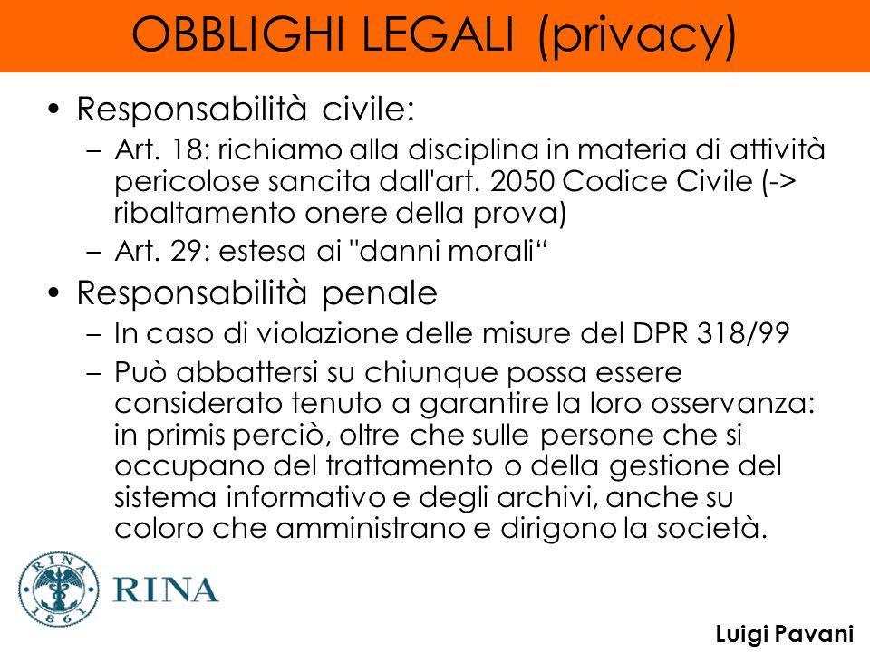 OBBLIGHI LEGALI (privacy)