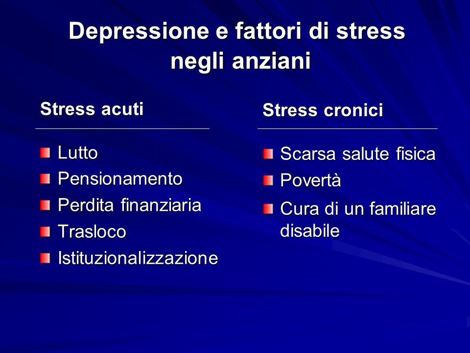 Depressione e fattori di stress negli anziani