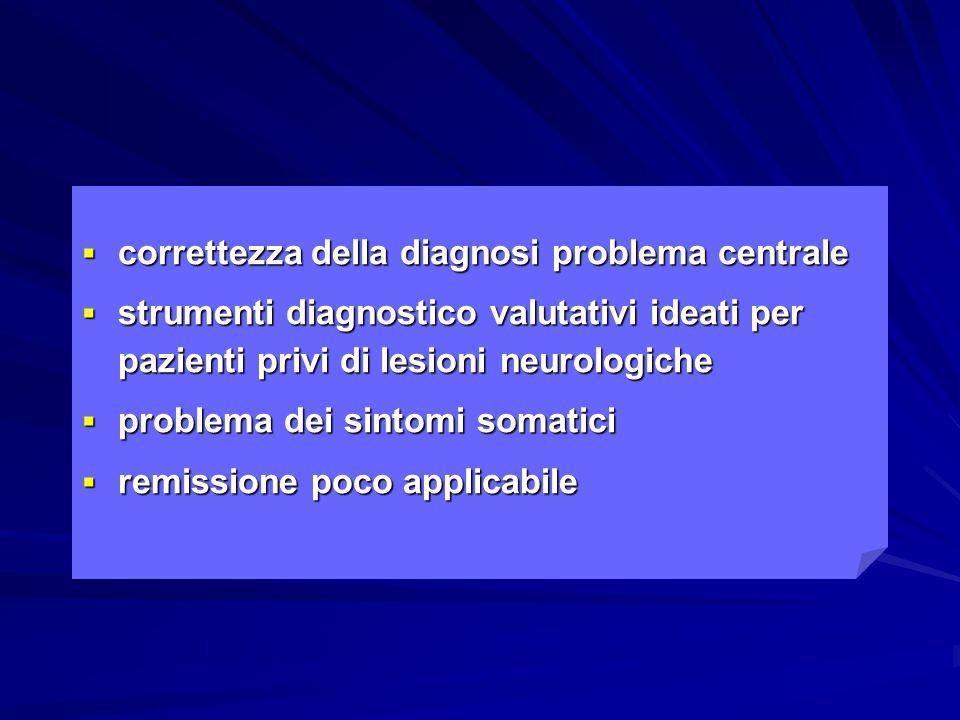 correttezza della diagnosi problema centrale