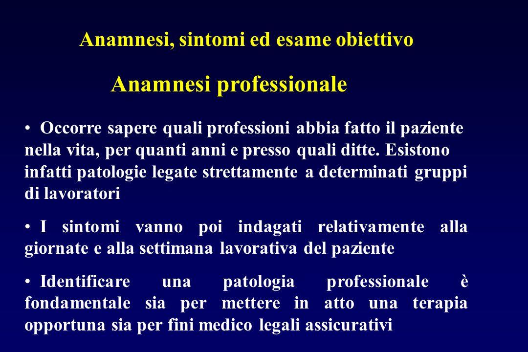 Anamnesi professionale