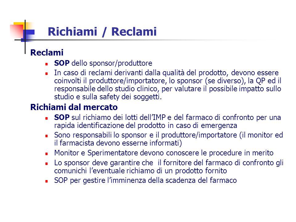 Richiami / Reclami Reclami Richiami dal mercato