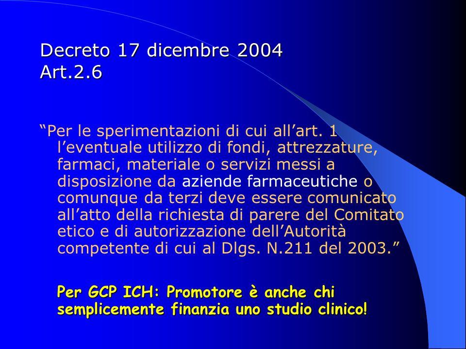 Decreto 17 dicembre 2004 Art.2.6