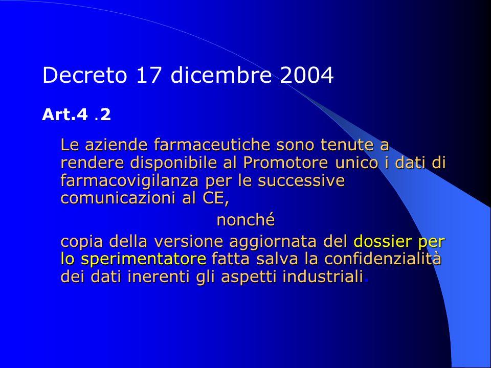 Decreto 17 dicembre 2004 Art.4 .2.