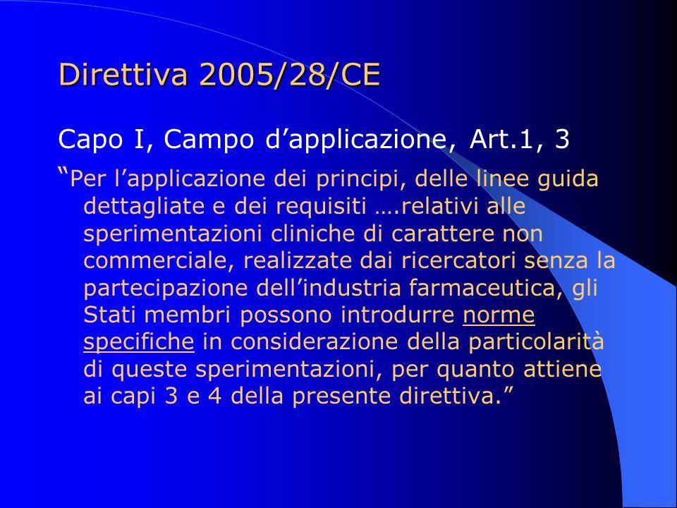 Direttiva 2005/28/CE Capo I, Campo d'applicazione, Art.1, 3