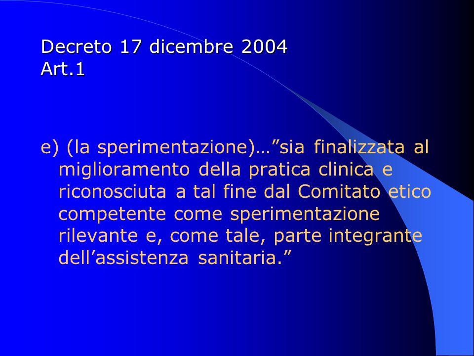 Decreto 17 dicembre 2004 Art.1