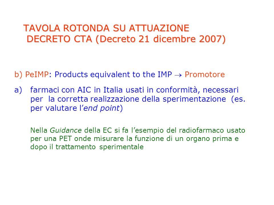TAVOLA ROTONDA SU ATTUAZIONE DECRETO CTA (Decreto 21 dicembre 2007)