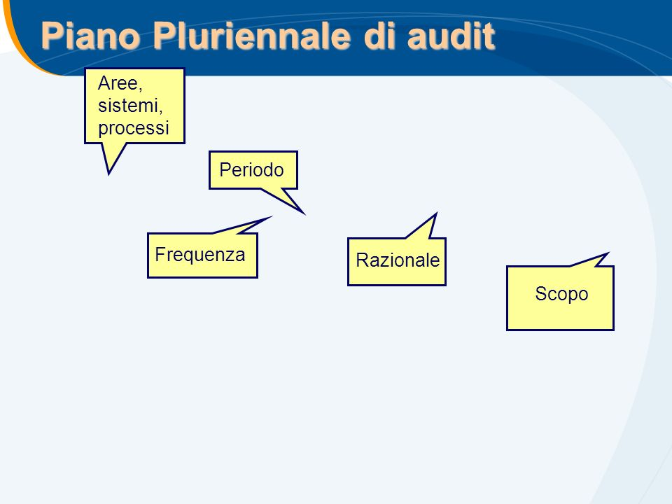 Piano Pluriennale di audit