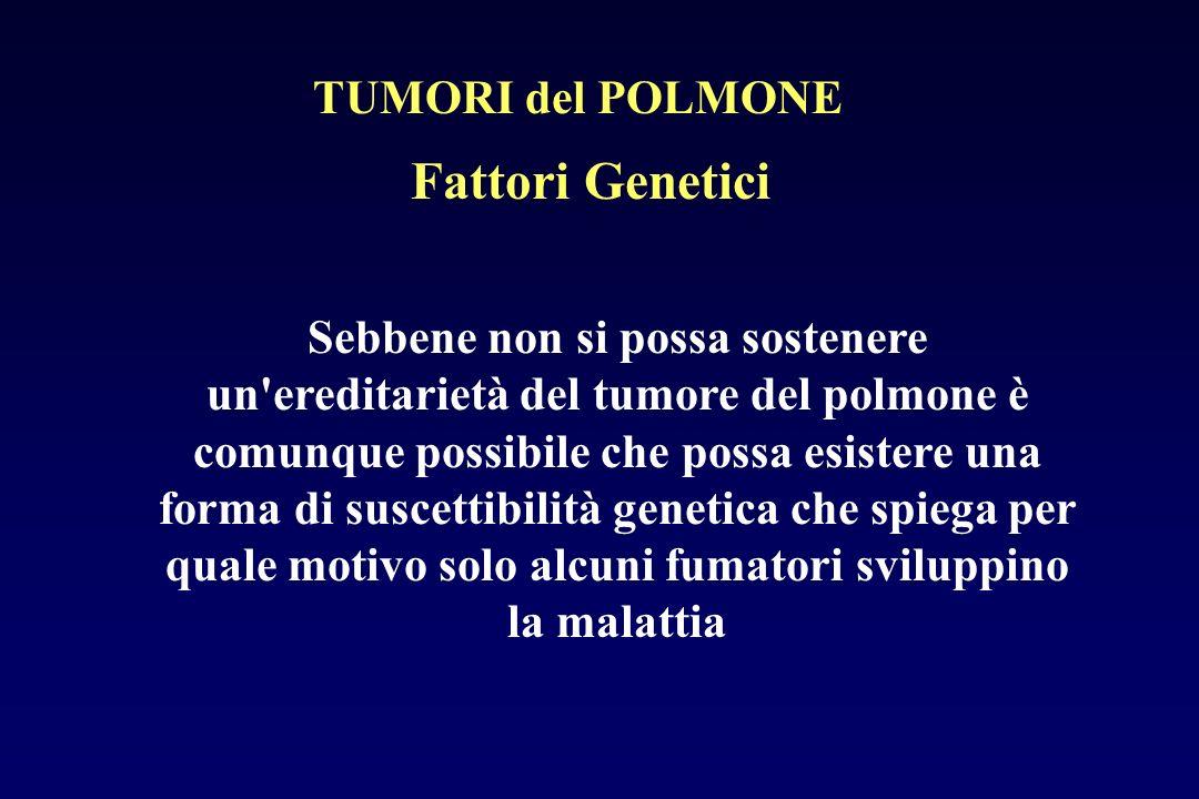 Fattori Genetici TUMORI del POLMONE