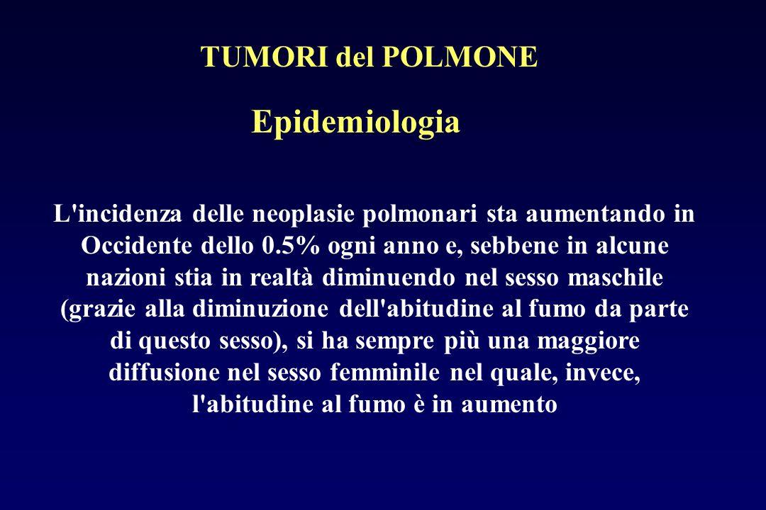 Epidemiologia TUMORI del POLMONE