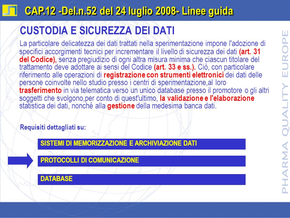 CAP.12 -Del.n.52 del 24 luglio 2008- Linee guida