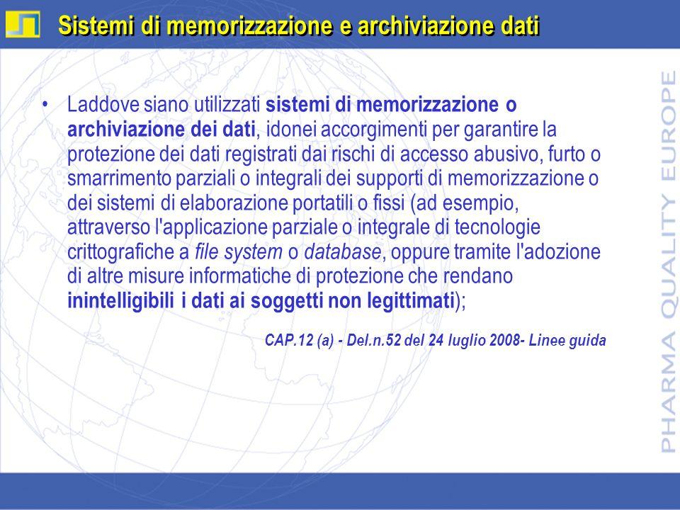 Sistemi di memorizzazione e archiviazione dati