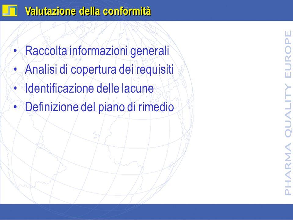 Raccolta informazioni generali Analisi di copertura dei requisiti