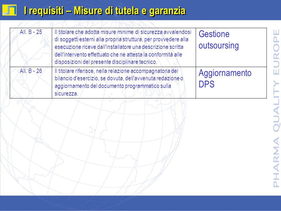 I requisiti – Misure di tutela e garanzia