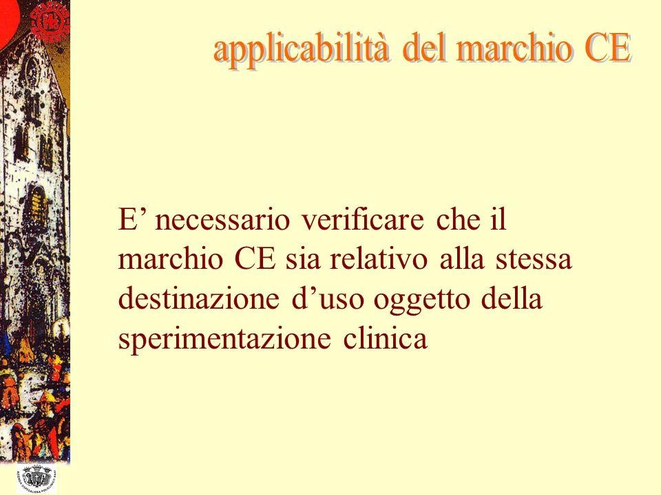 applicabilità del marchio CE
