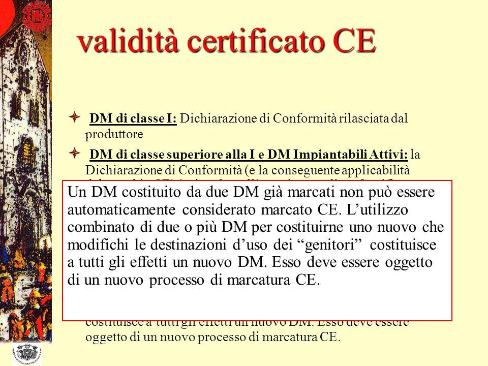 validità certificato CE