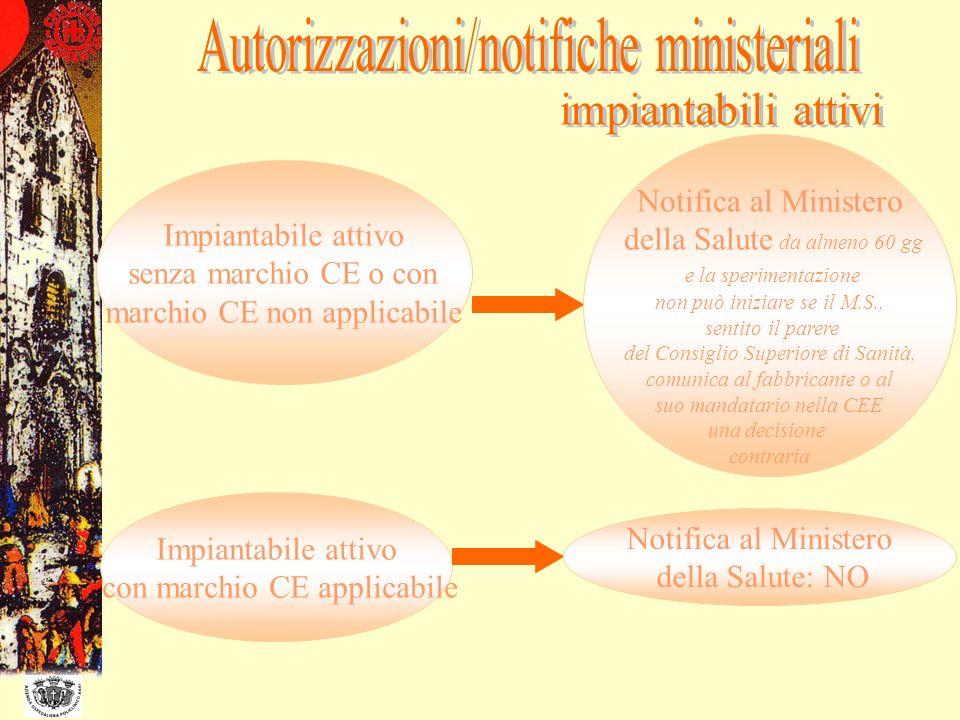 Autorizzazioni/notifiche ministeriali