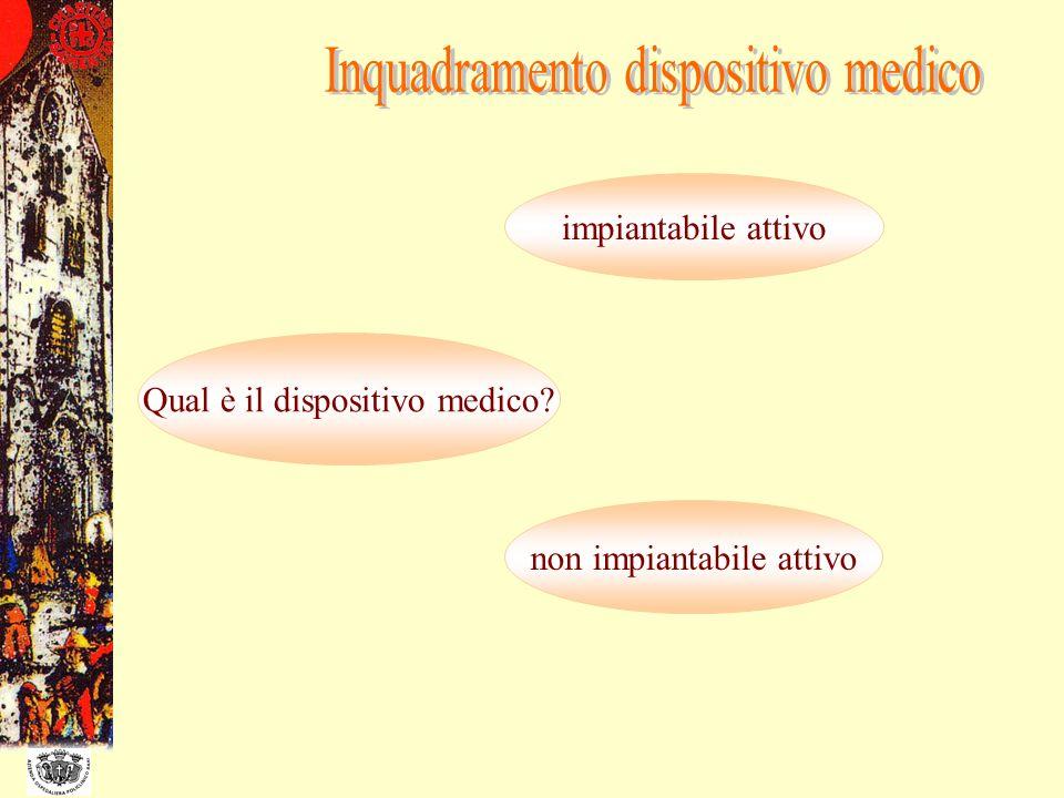 Inquadramento dispositivo medico