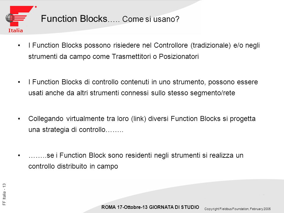 Function Blocks….. Come si usano