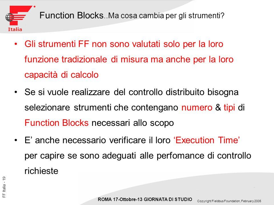 Function Blocks..Ma cosa cambia per gli strumenti