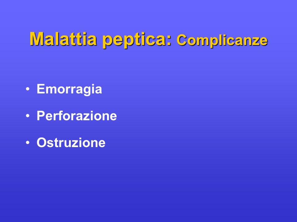 Malattia peptica: Complicanze