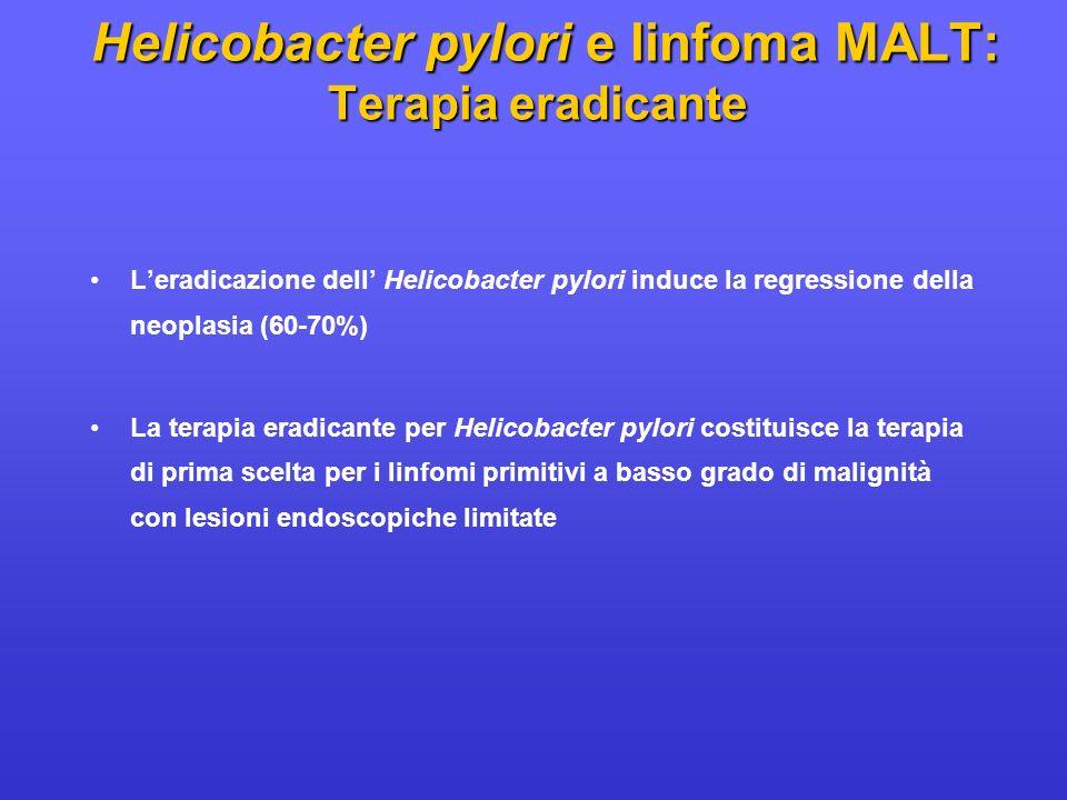 Helicobacter pylori e linfoma MALT: Terapia eradicante