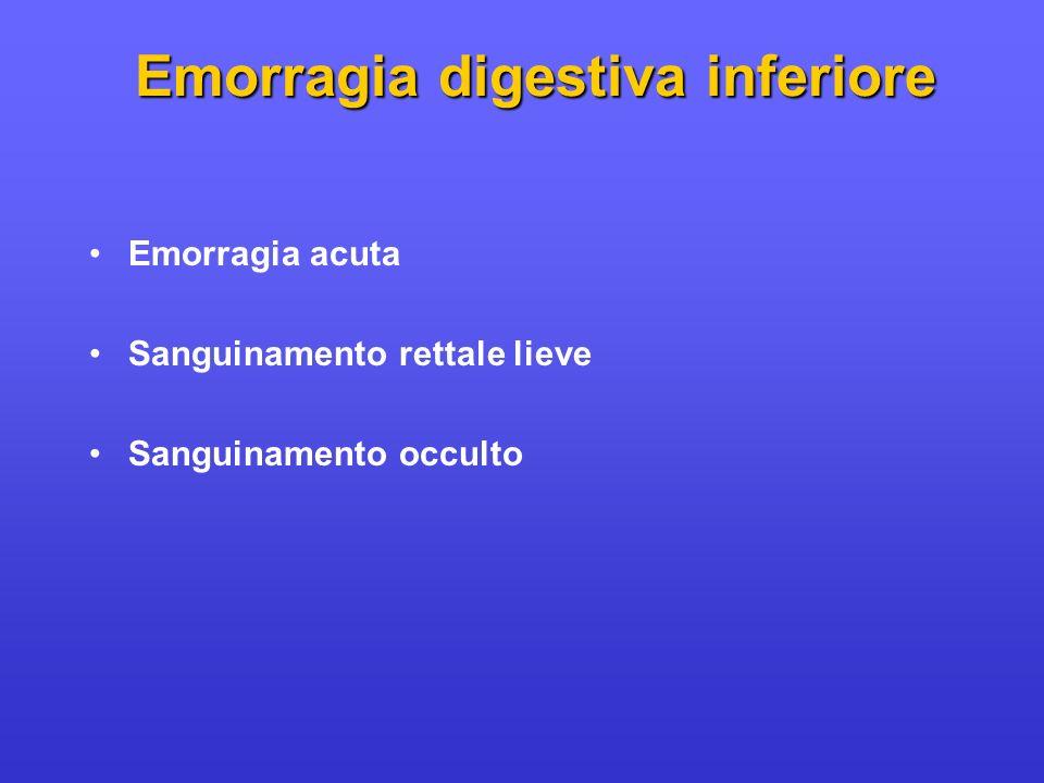 Emorragia digestiva inferiore