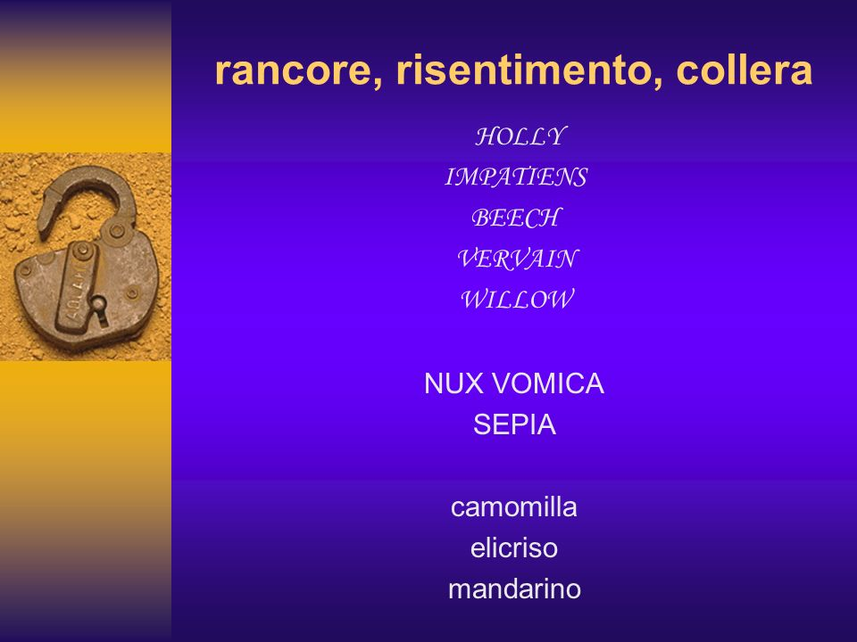 rancore, risentimento, collera