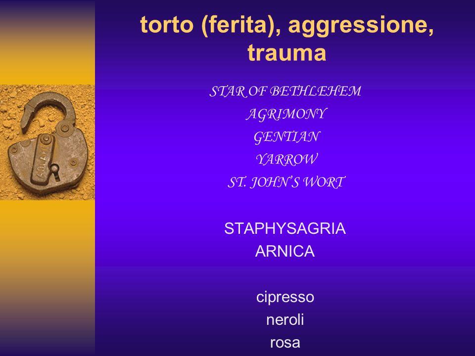 torto (ferita), aggressione, trauma