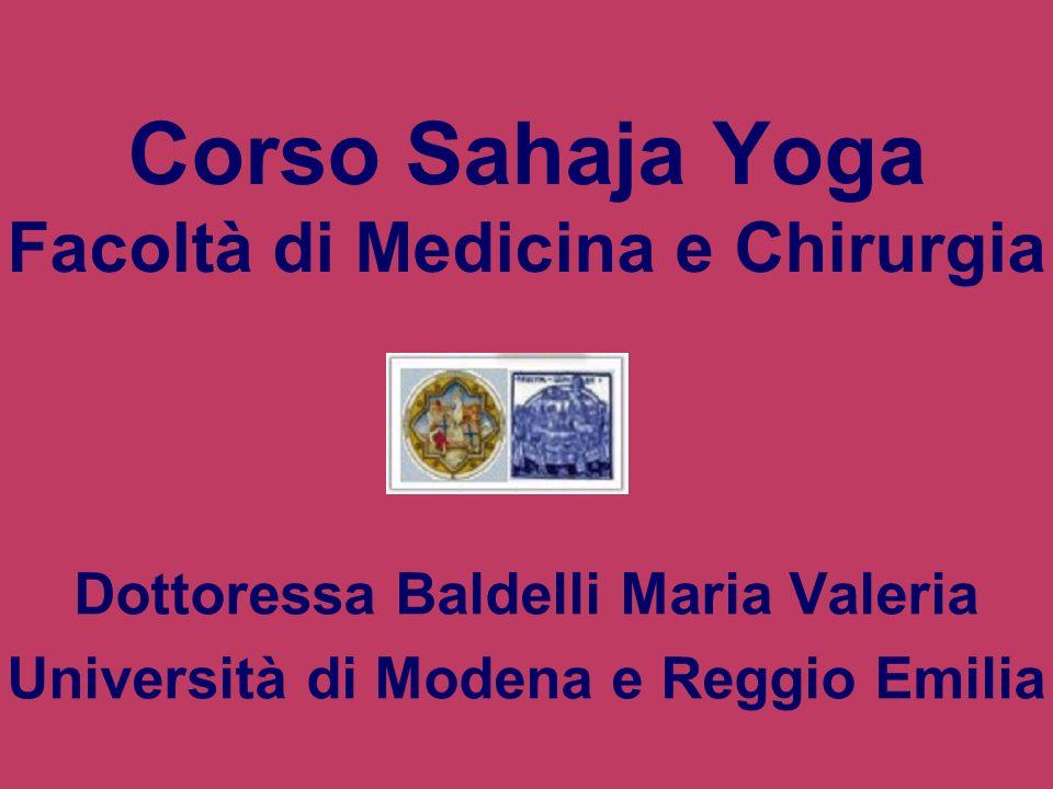 Corso Sahaja Yoga Facoltà di Medicina e Chirurgia