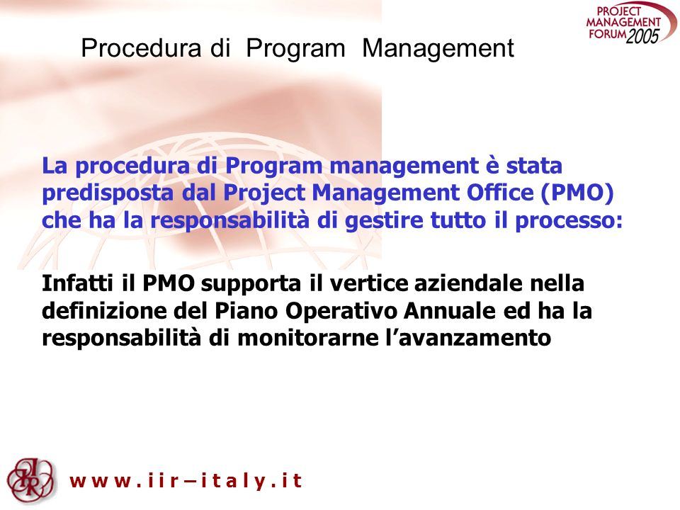 Procedura di Program Management