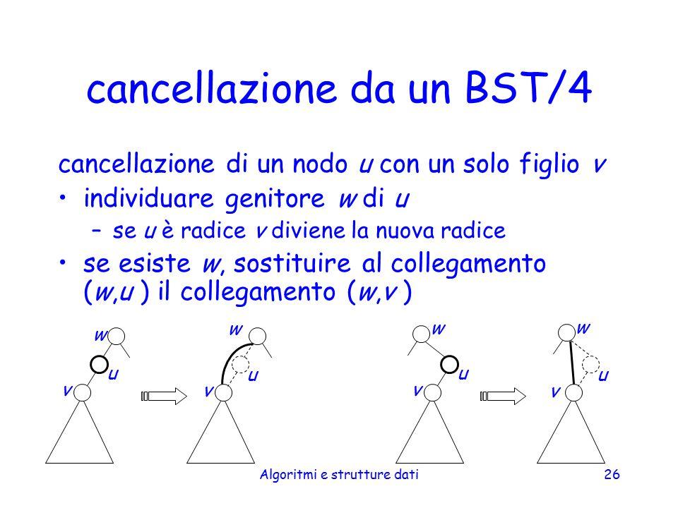 cancellazione da un BST/4