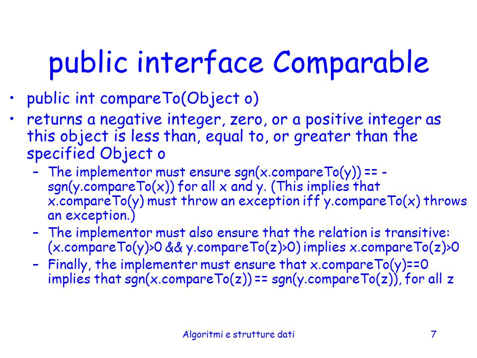 public interface Comparable