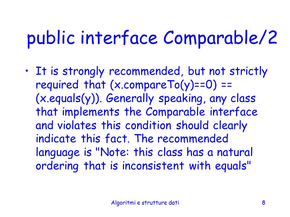 public interface Comparable/2