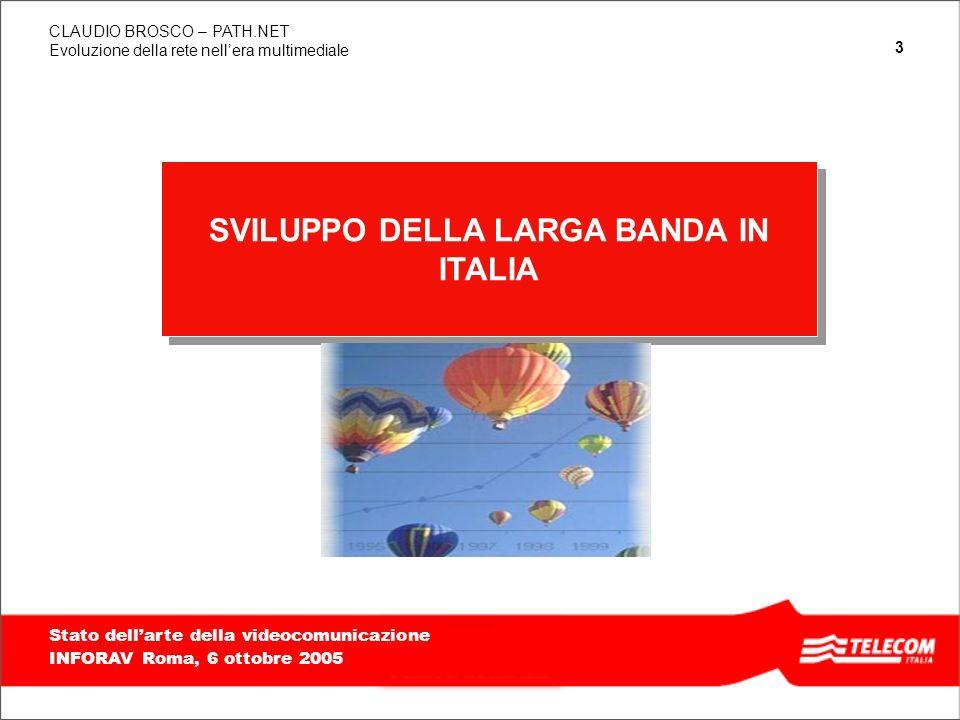 SVILUPPO DELLA LARGA BANDA IN ITALIA