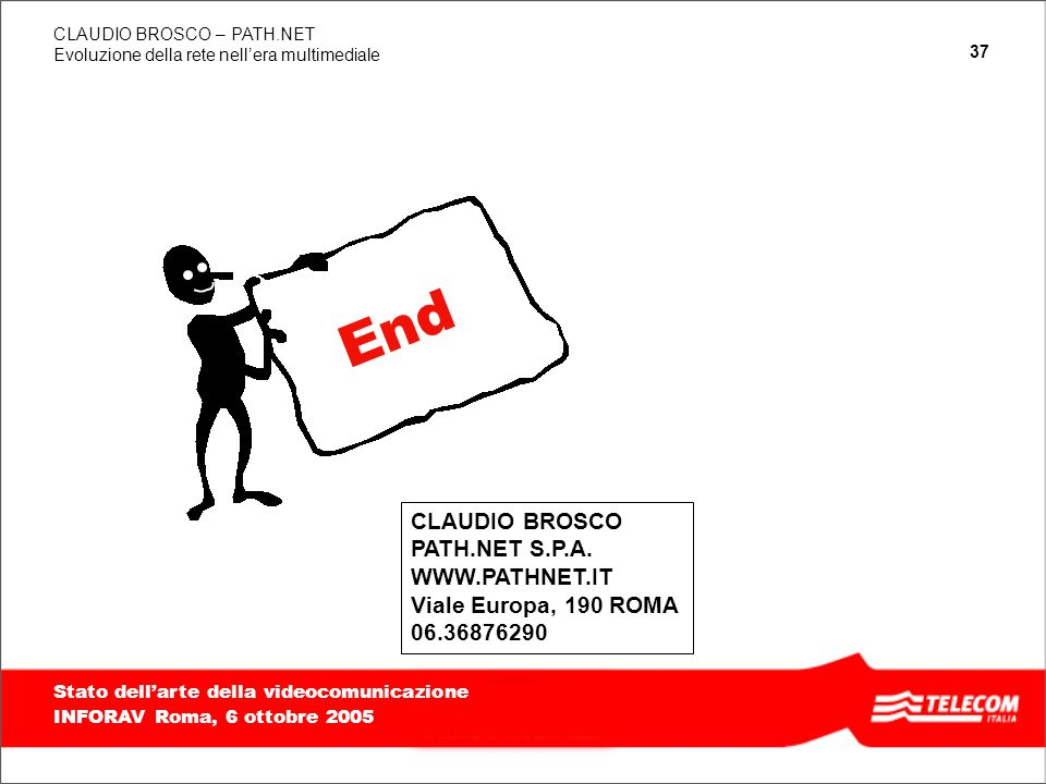 End CLAUDIO BROSCO PATH.NET S.P.A. WWW.PATHNET.IT