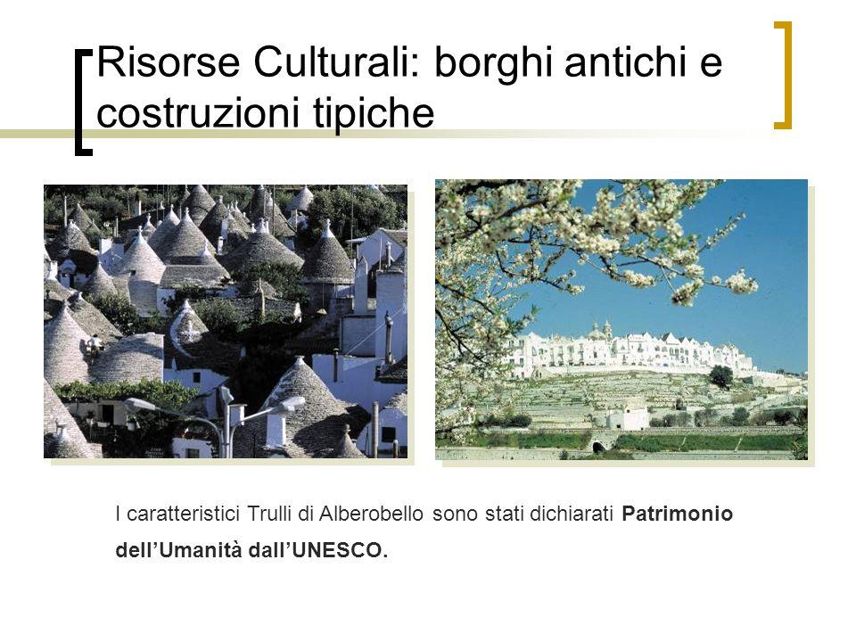 Risorse Culturali: borghi antichi e costruzioni tipiche