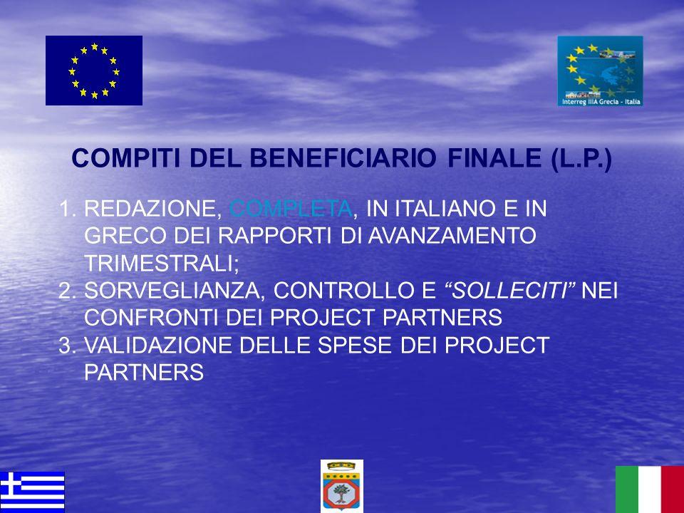 COMPITI DEL BENEFICIARIO FINALE (L.P.)