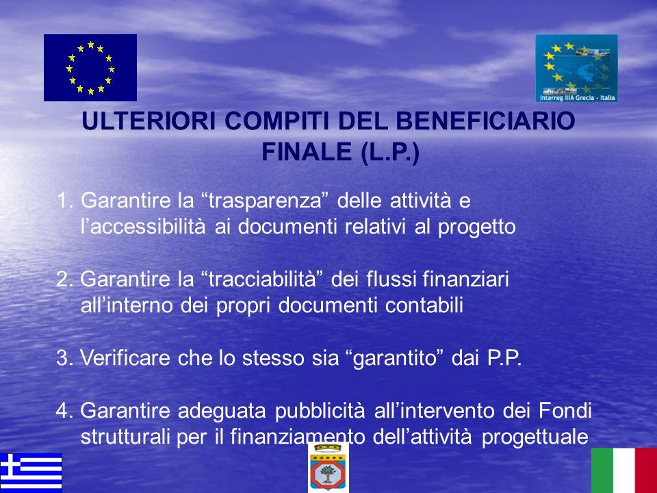 ULTERIORI COMPITI DEL BENEFICIARIO FINALE (L.P.)