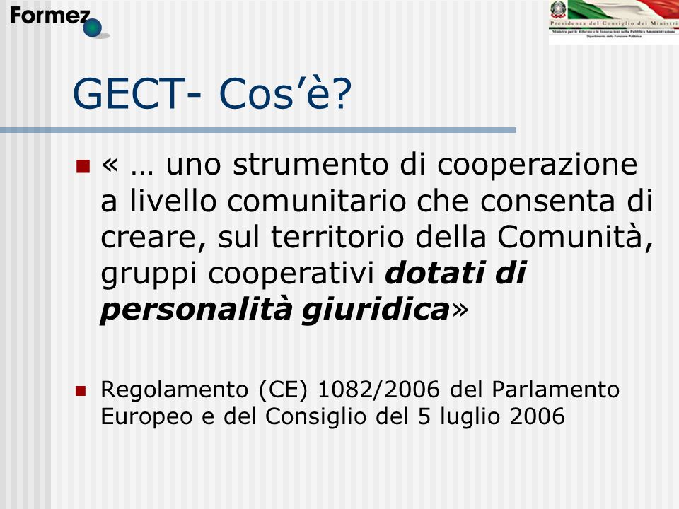 GECT- Cos'è