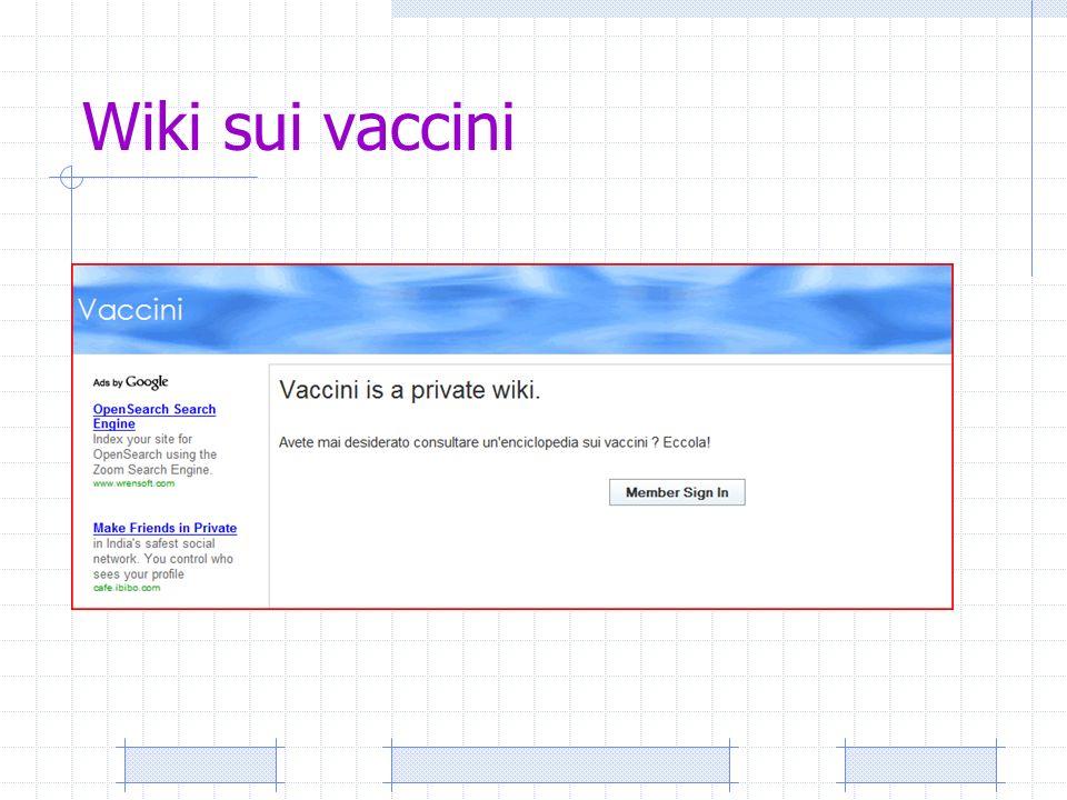 Wiki sui vaccini