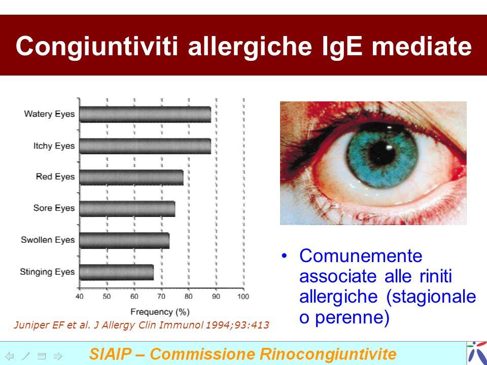 Congiuntiviti allergiche IgE mediate