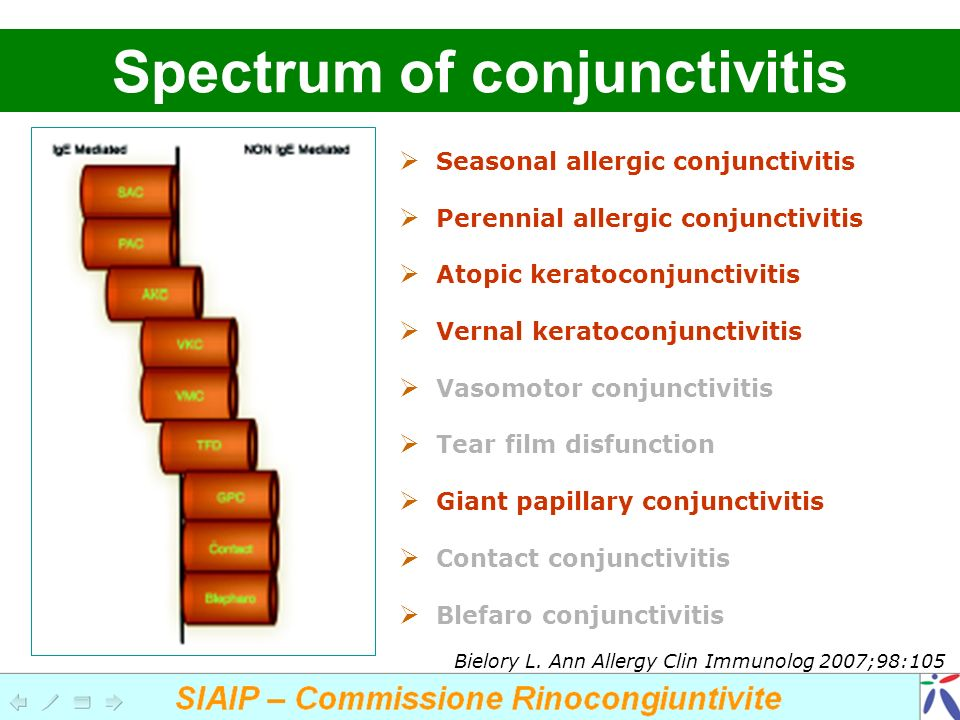 Spectrum of conjunctivitis