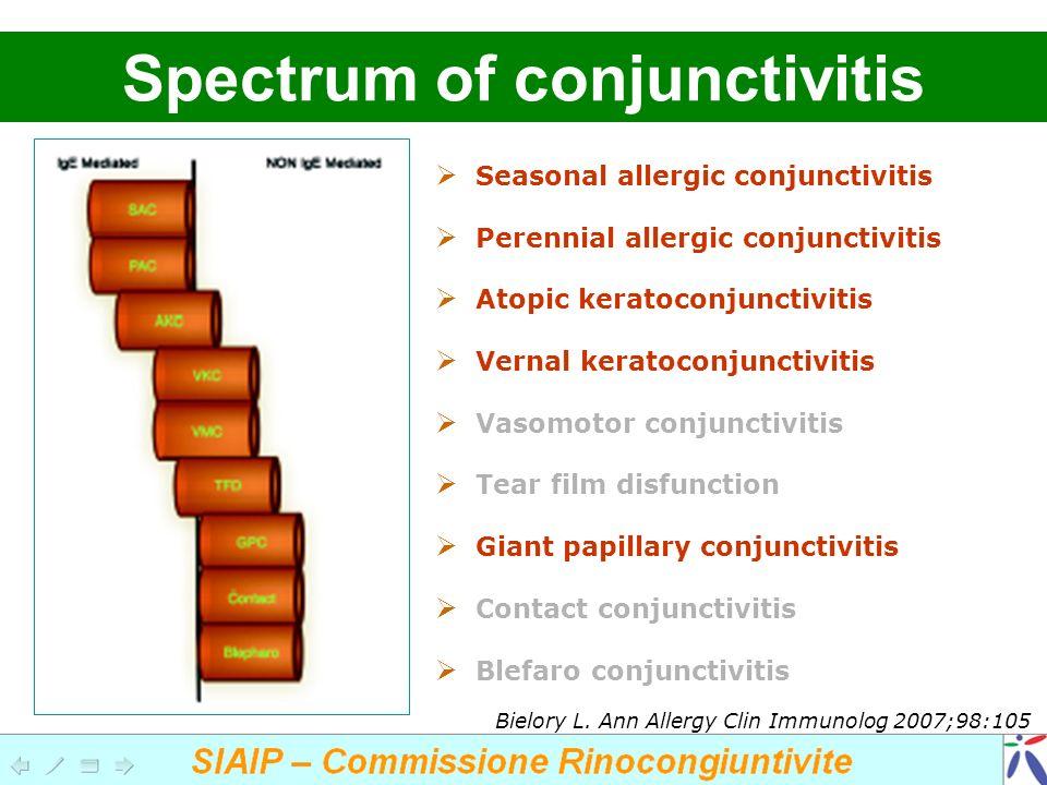 Spectrum of conjunctivitis