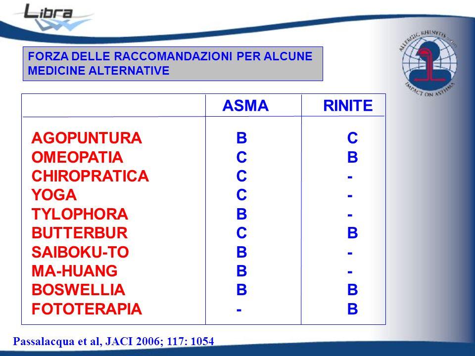 ASMA RINITE AGOPUNTURA OMEOPATIA CHIROPRATICA YOGA TYLOPHORA BUTTERBUR