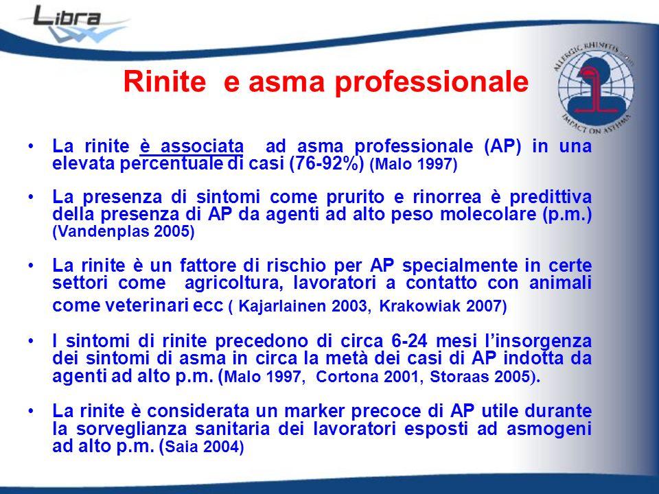 Rinite e asma professionale