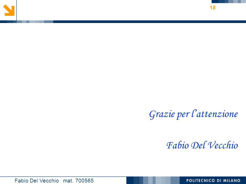 Grazie per l'attenzione Fabio Del Vecchio
