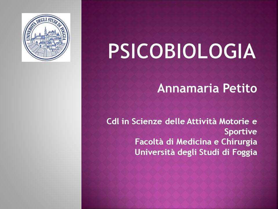 Psicobiologia Annamaria Petito